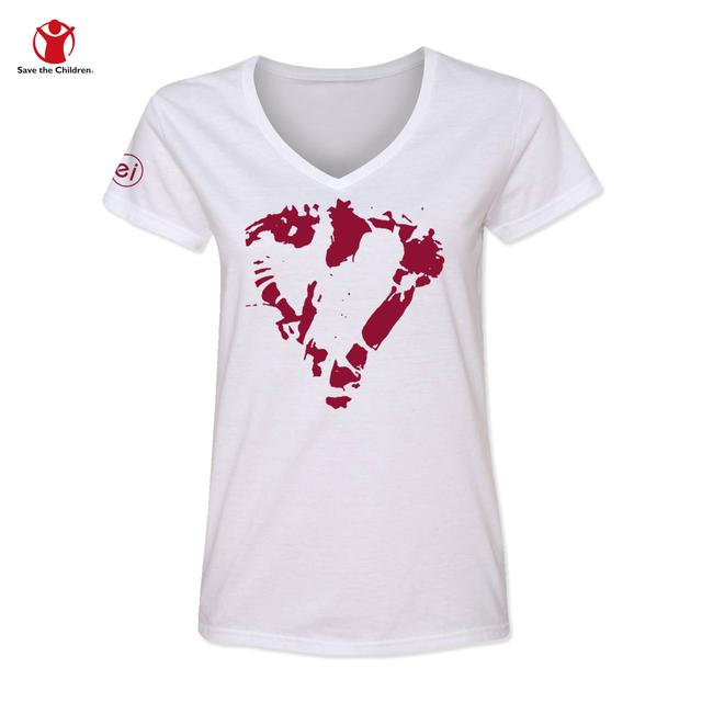 Enrique Iglesias Heart Women's V-Neck Charity T-Shirt