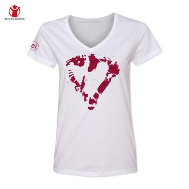 Enrique Iglesias Heart Women's V-Neck Charity T-Shirt