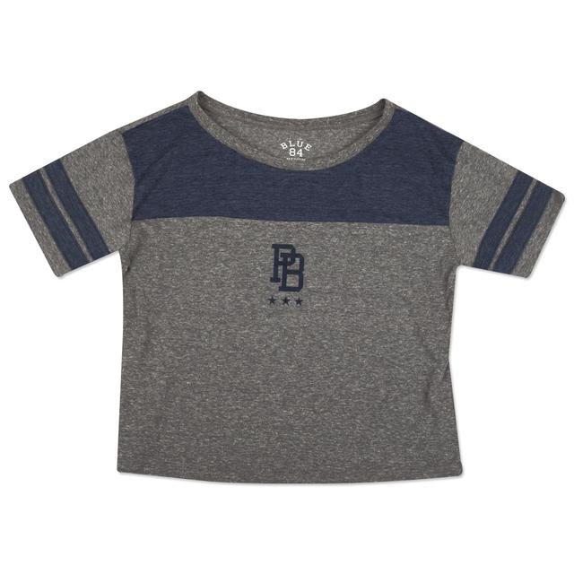 Pitbull Ladies Crop Top DALE 81 Navy Details