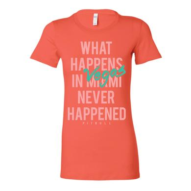 Pitbull What Happens In Vegas Ladies T-Shirt