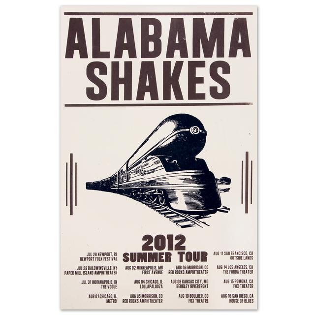Alabama Shakes 2012 Summer Tour Poster
