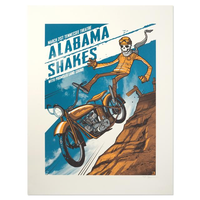 Alabama Shakes Show Poster - Knoxville, TN 3/21/2015