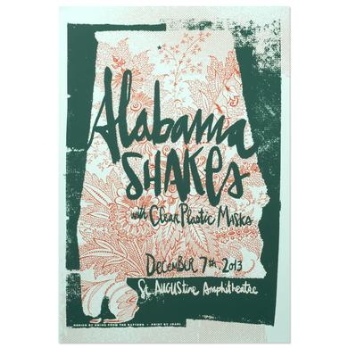 Alabama Shakes Show Poster - St. Augustine, FL 12/7/2013