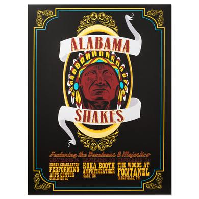 Alabama Shakes with the Dexateens & Majestico Tour Poster