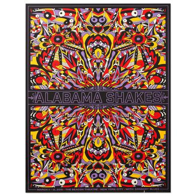 Alabama Shakes March 11 & 12, 2015. the Beacon Theatre. New York City with Songhoy Blues.  Numbered Litho