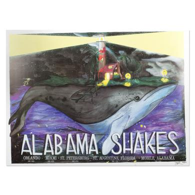 Alabama Shakes Orlando Dec 3rd. Miami Dec. 4th. St. Petersburg Dec 6th.  St. Augustine, Florida Dec. 7th. Mobile, Alabama Dec. 8th. Numbered Litho