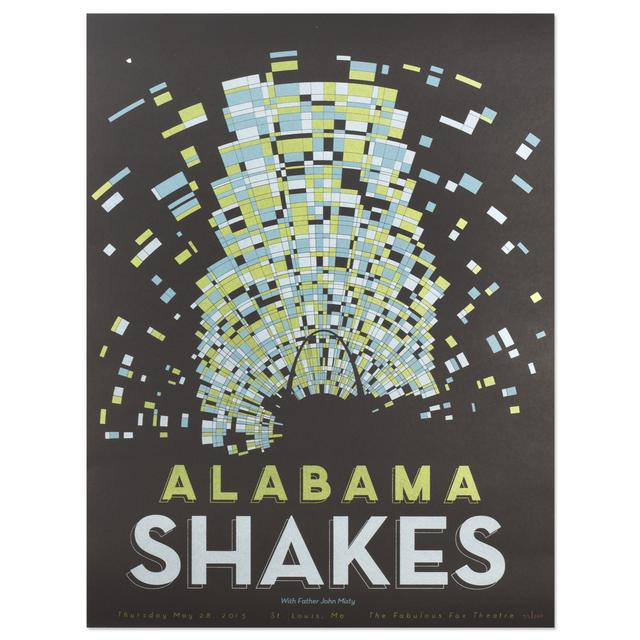 Alabama Shakes Show Poster - St. Louis, MO 5/28/2015