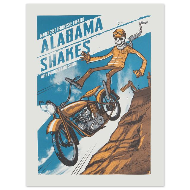 Alabama Shakes March 21st, Tennessee Theater with Promised Land Sound Poster