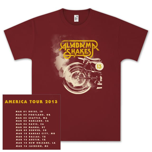 Alabama Shakes US Winter Tour 2013 T-Shirt