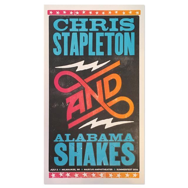 Chris Stapleton and Alabama Shakes Poster -- Milwaukee 7/2/16