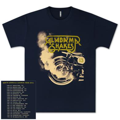 Alabama Shakes North American Tour 2013 Motorcycle T-Shirt