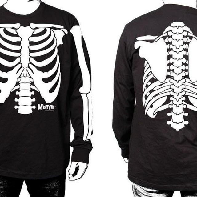 The Misfits Glow in the Dark Skeleton Long Sleeve Shirt