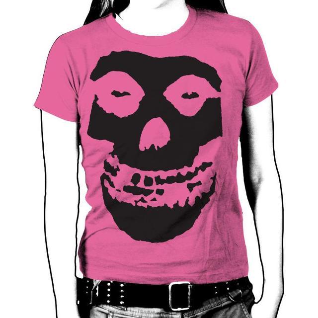 The Misfits Black Skull Womens T-Shirt