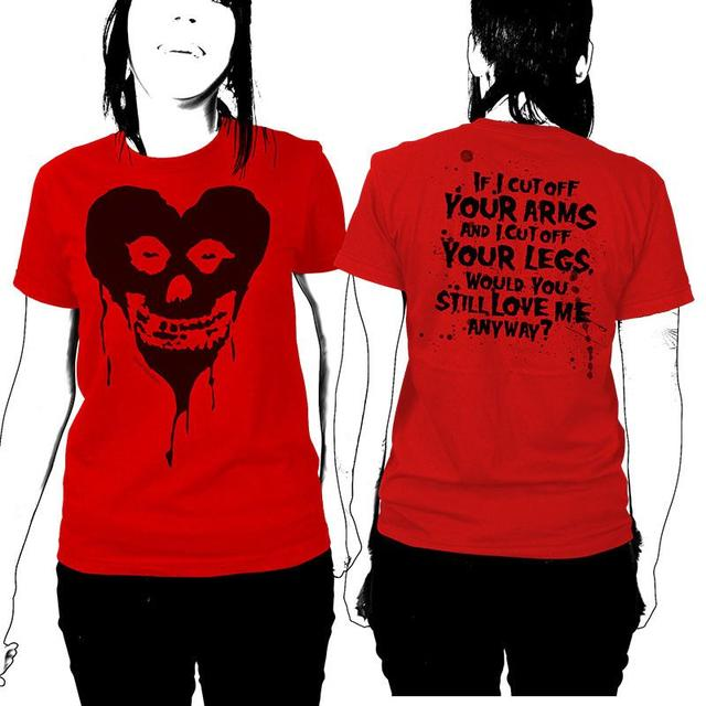 The Misfits Ltd Ed. Fiendish Black Heart Womens T-Shirt