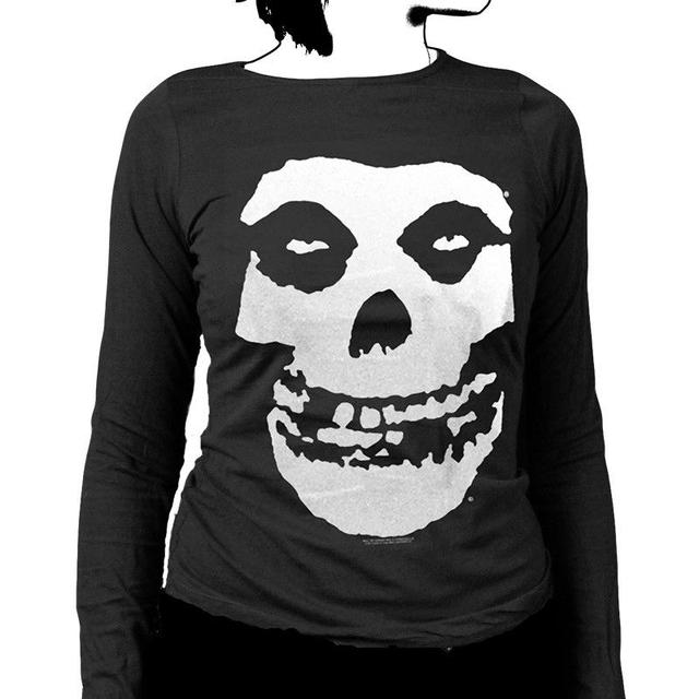 The Misfits Classic Fiend Skull Womens Long Sleeve Shirt