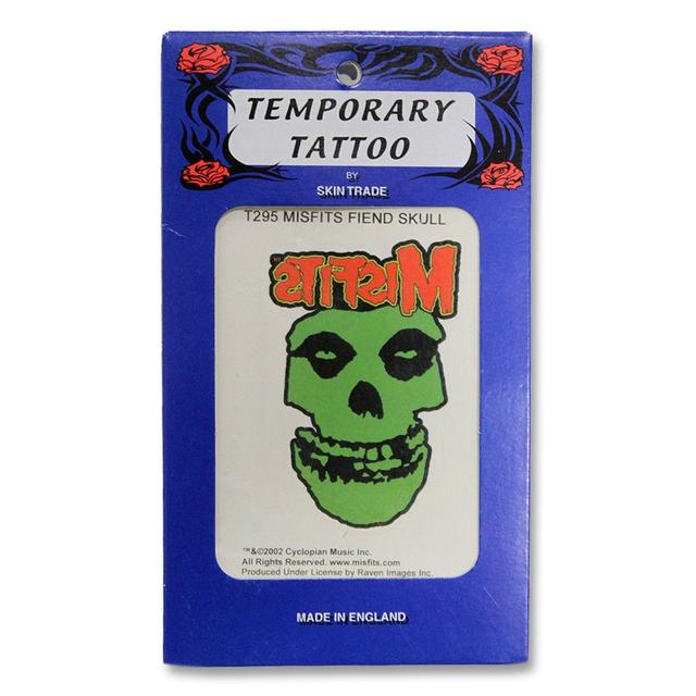 The Misfits Classic Fiend Skull Temporary Tattoo