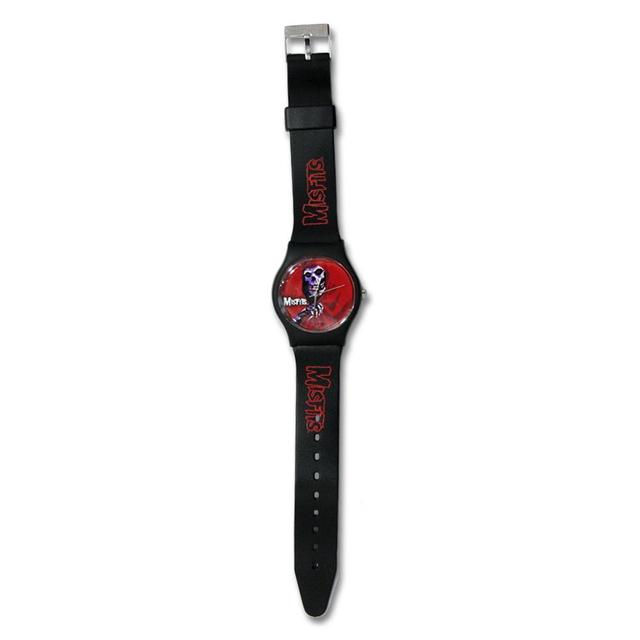 The Misfits Red Fiend Round Watch