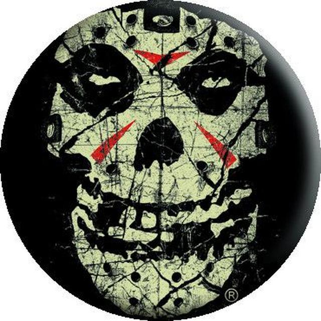 Misfits Crystal Lake Skull Button