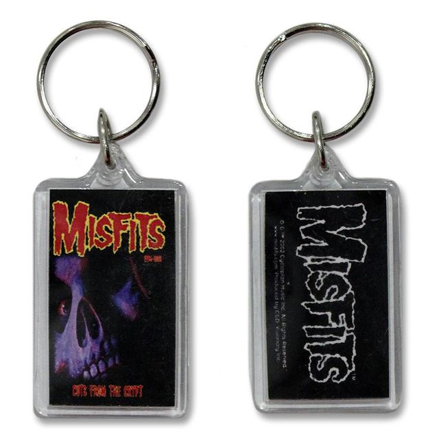 The Misfits Cuts Back Skull Clear Keychain