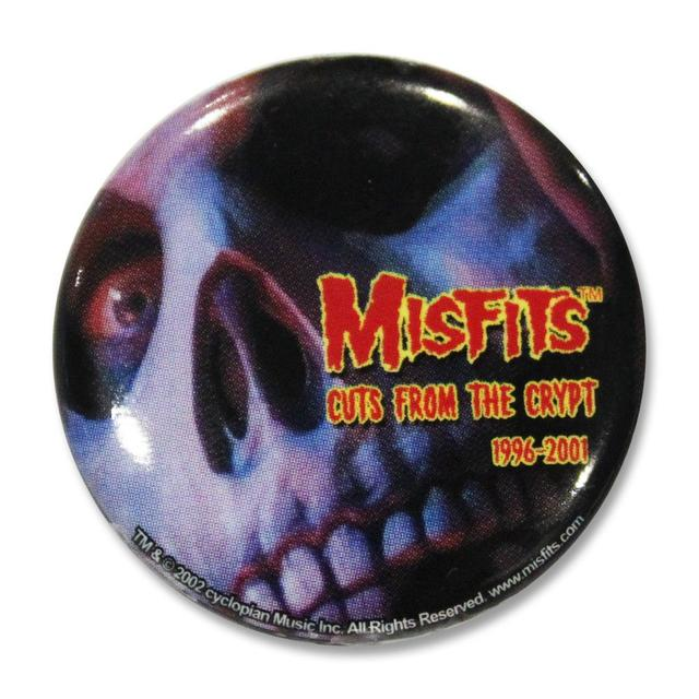 The Misfits Cuts Skull Button