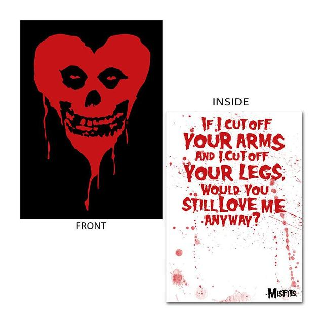 The Misfits Ltd Ed. Fiendish Heart Valentine Card