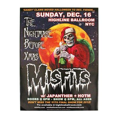 The Misfits The Nightmare Before Xmas Poster