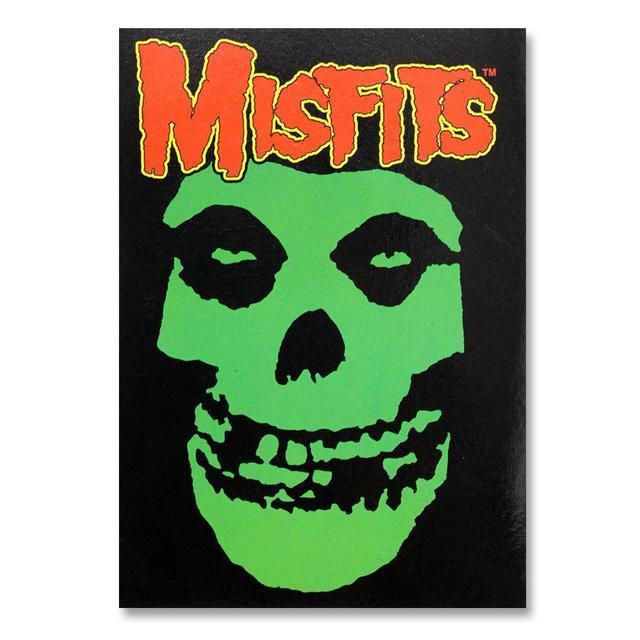 The Misfits Green Skull Postcard
