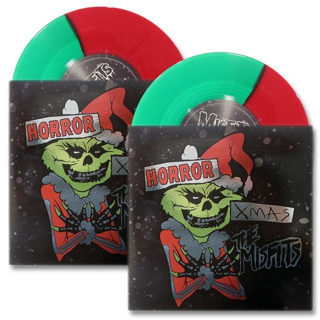 """MISFITS """"HORROR XMAS""""—LTD ED RED & GREEN SPLIT VARIANT VINYL SET"""