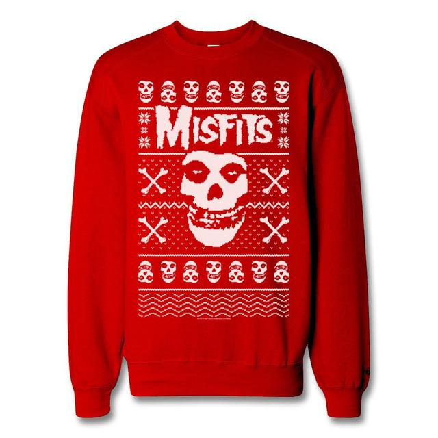 The Misfits Fiend Snow Crewneck Sweater - Red