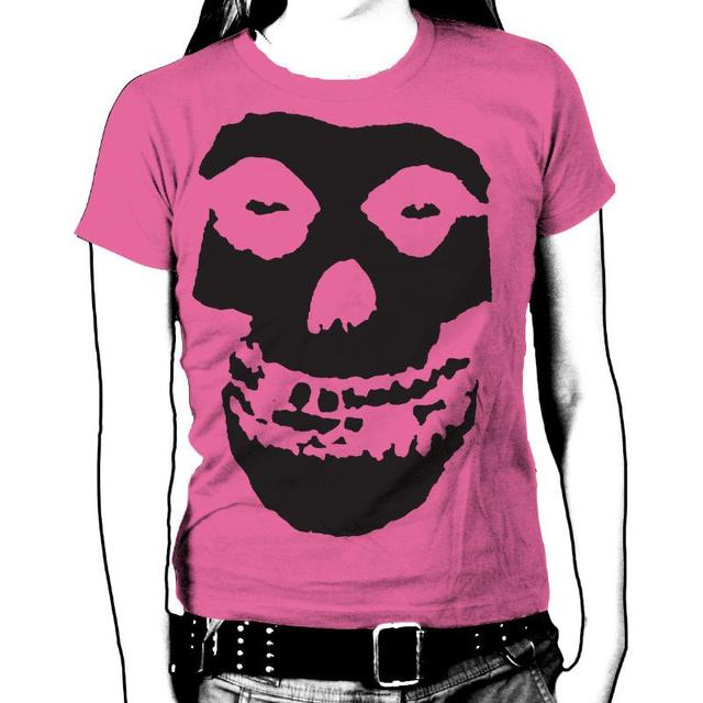 The Misfits Black Skull Womens T-Shirt