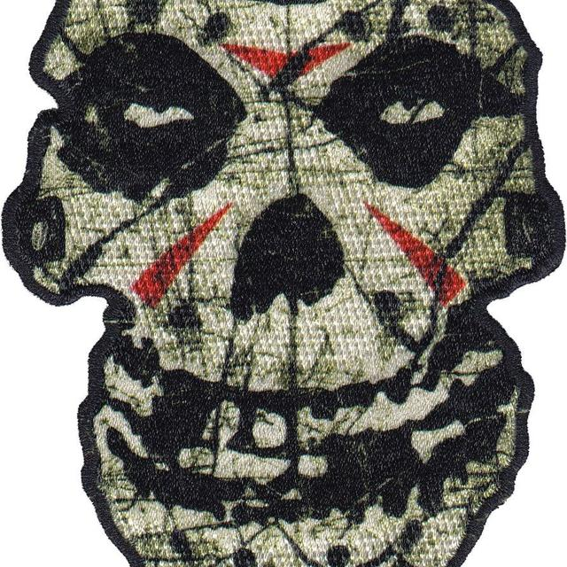 """Misfits """"Crystal Lake Skull"""" Embroidered Patch"""