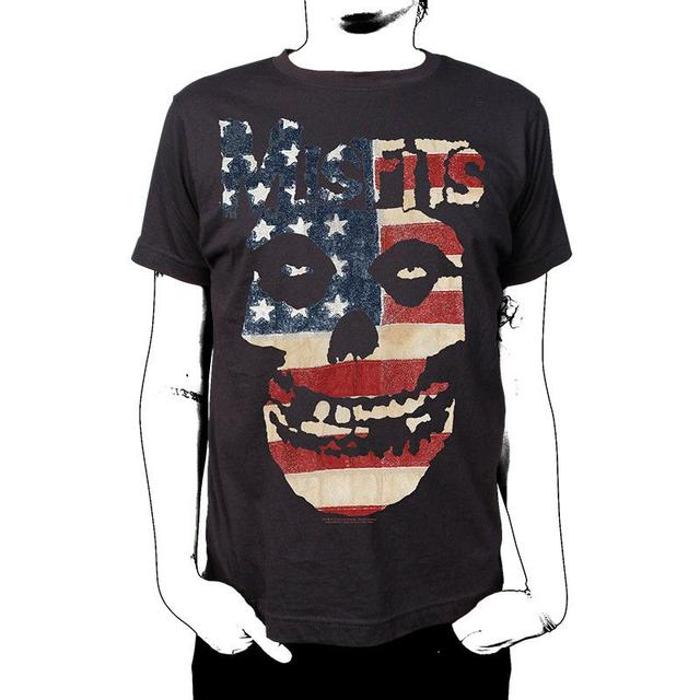 The Misfits Skulls and Stripes T-Shirt