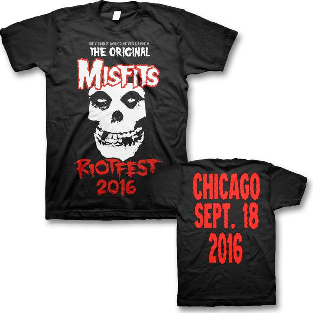 Original Misfits Reunion, Riot Fest Event T-shirt