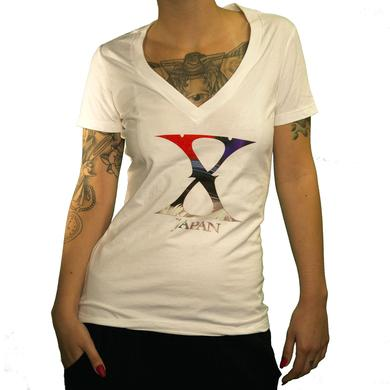 X Japan Ladies Logo V-Neck