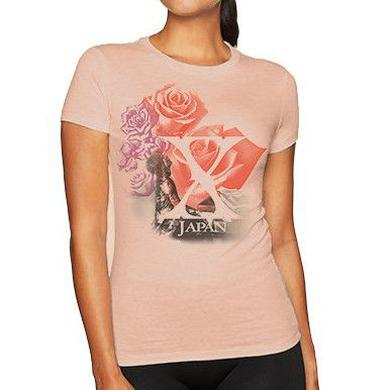 X Japan Roses Ladies T-Shirt