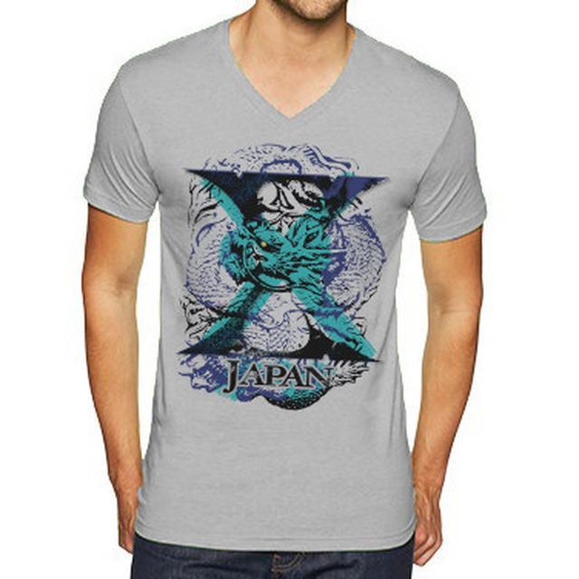 X Japan Dragon Men's V-Neck