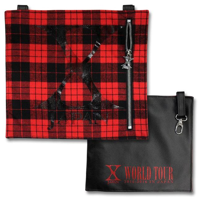 X Japan Plaid Bumflap