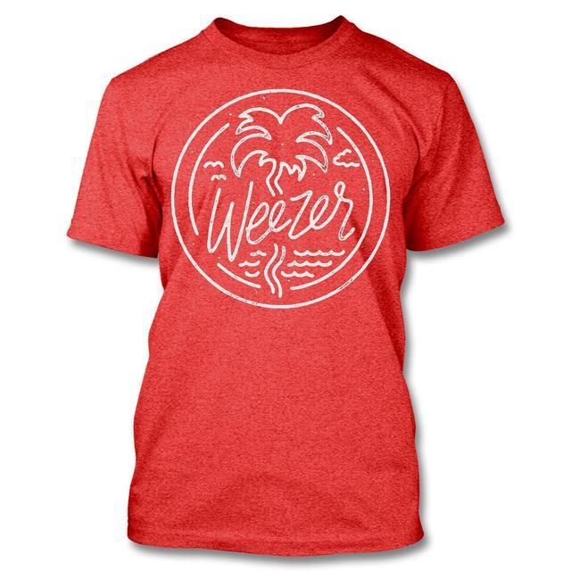 Weezer Wavy T-shirt (Heather Red)