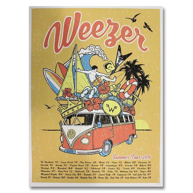 Weezer Summer 2016 Tour Print