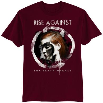 Rise Against Marked T-shirt -  Men's (Maroon)