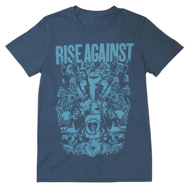 Rise Against Protest Blue Men's T-shirt