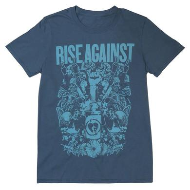 Rise Against Protest Blue Men's T-shirt