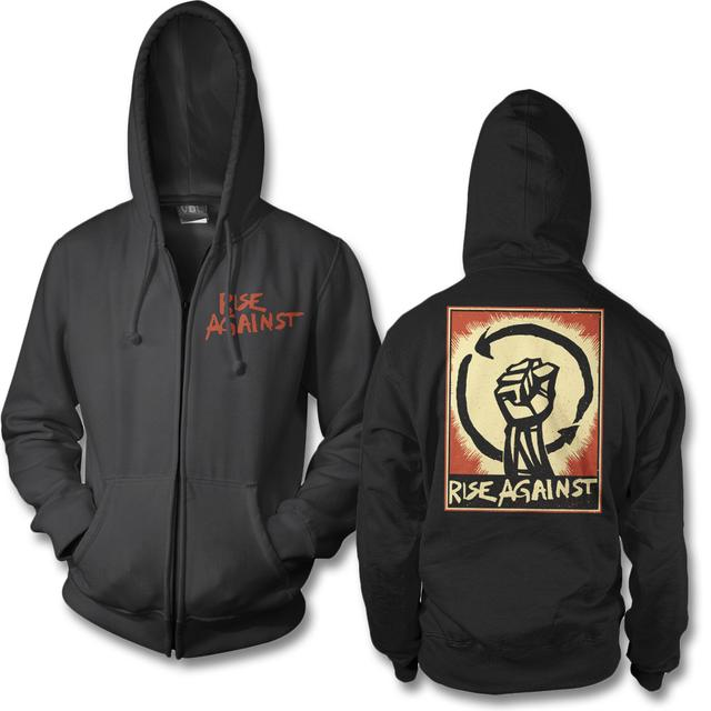 Rise Against Fist Up Zip Hoodie