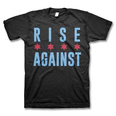 Rise Against Chicago Flag T-shirt