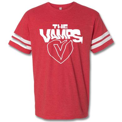 The Vamps Simple Heart Football T-Shirt - Men's