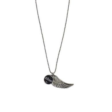 The Vamps Pewter Wing & Logo Necklace