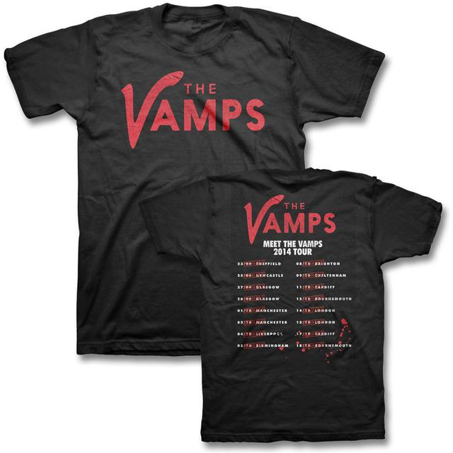 The Vamps Line Up Logo 2014 UK Tour T-shirt
