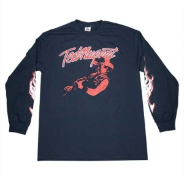 Ted Nugent T Shirt - Long Sleeve Blue Tee