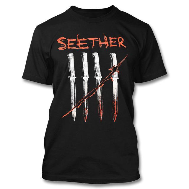 Seether Knife Tally T-Shirt