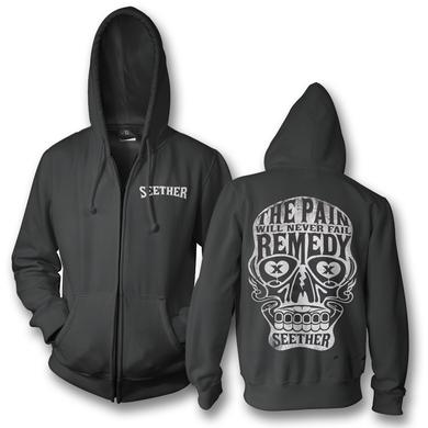 Seether Sugar Skull Zip Up Hoodie